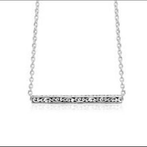 Lois Hill Sterling Silver Bar Pendant Necklace